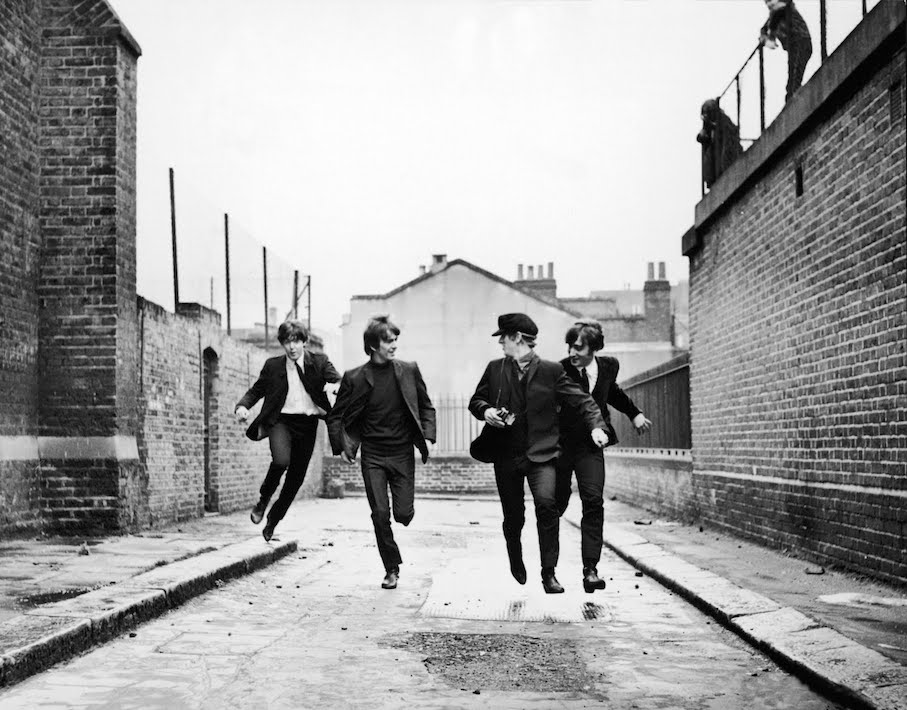 The Beatles Running In 'A Hard Day's Night'