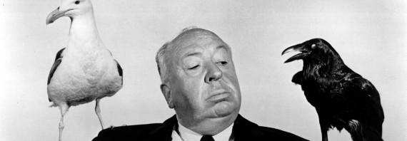 "ALFRED HITCHCOCK (DIR) PORTRAIT O/S ""THE BIRDS' (1963) ALH 007P"