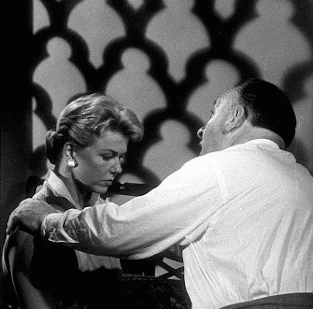Hitchcock sul set con Doris Day