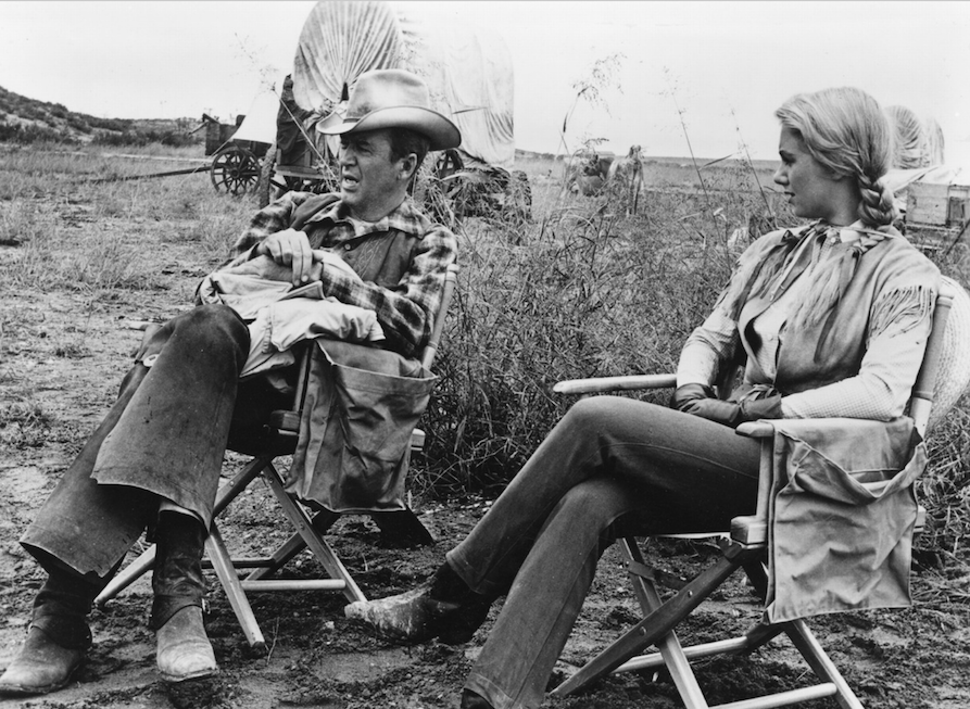 James Stewart sul set